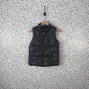 Justice NWT black puffer vest size 12